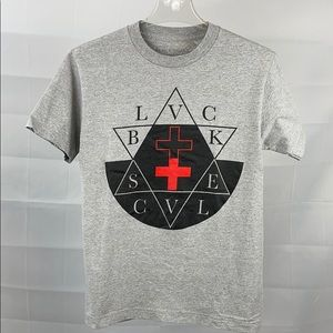 Black Scale Gray, Black & Red tee
